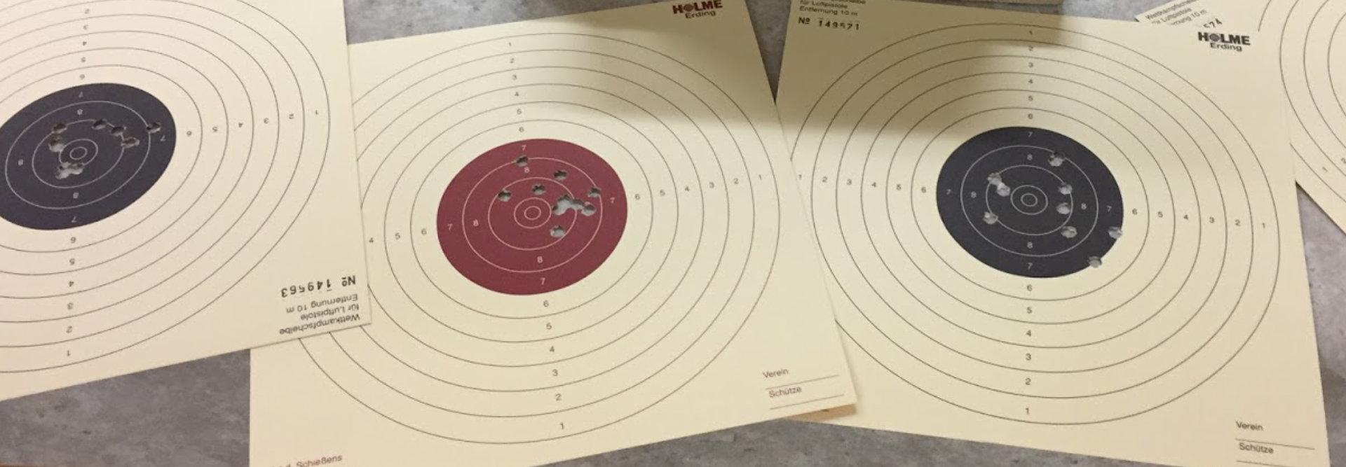Schießbetrieb - Lichtgewehr, Luftgewehr und Luftpistole